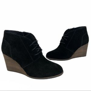 Lucky Brand Shylow Laceup Wedge Booties 9
